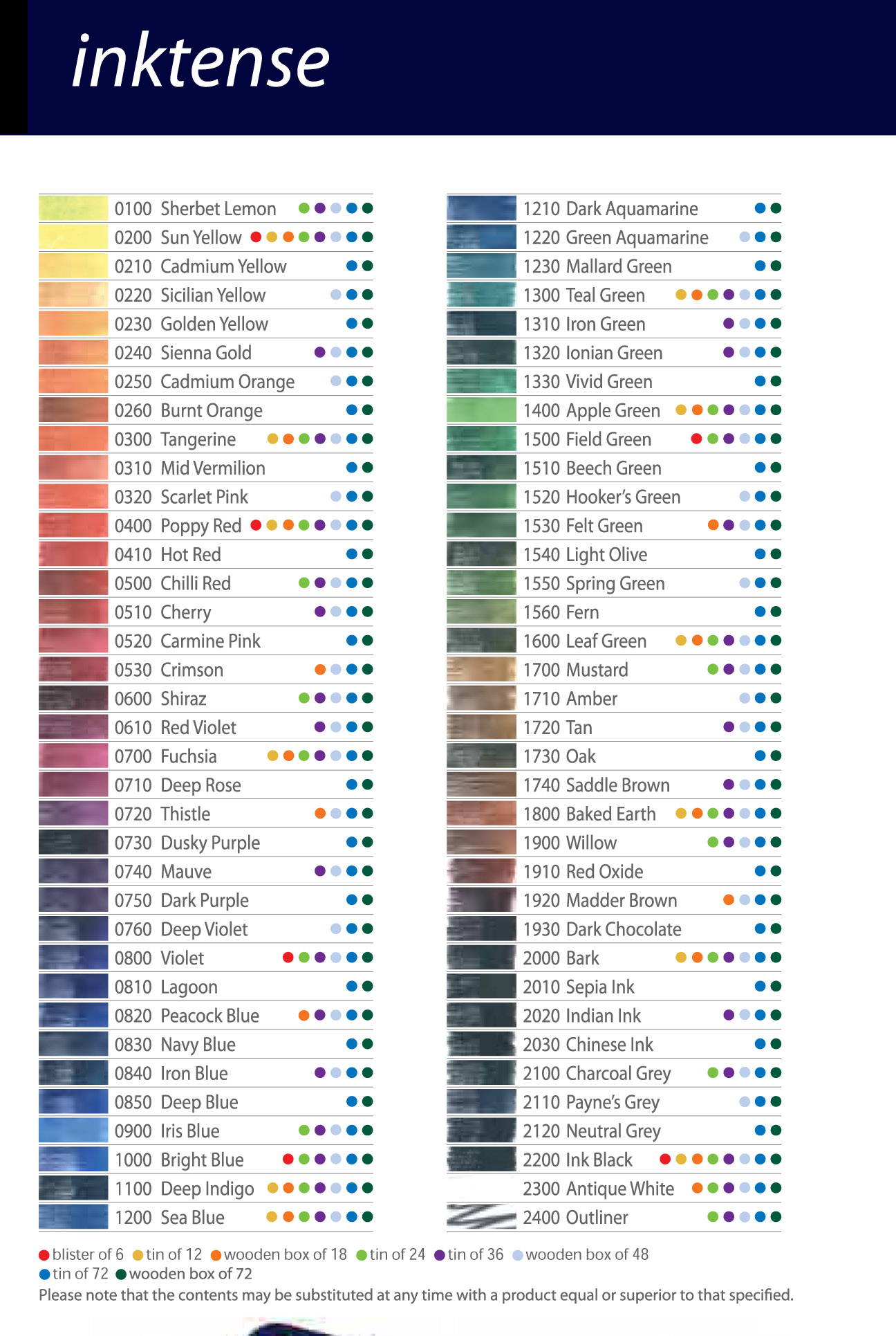 Resources for coloured pencil artists pencil charts nvjuhfo Gallery