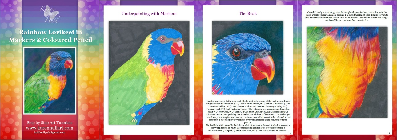 Rainbow Lorikeet In Coloured Pencils And Markers Tutorial